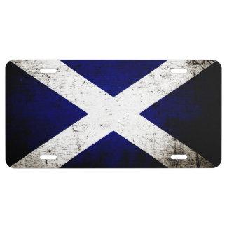 Zwarte Vlag 1 van Grunge Schotland Nummerplaat