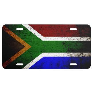 Zwarte Vlag 1 van Grunge Zuid-Afrika Nummerplaat