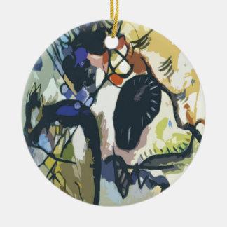 Zwarte Vlek Rond Keramisch Ornament