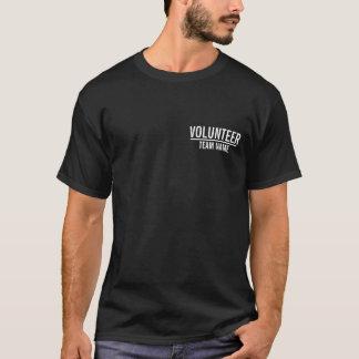 Zwarte Vrijwilliger met de Naam van het Team van T Shirt