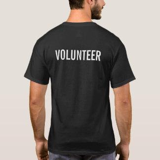 Zwarte Vrijwilliger T Shirt