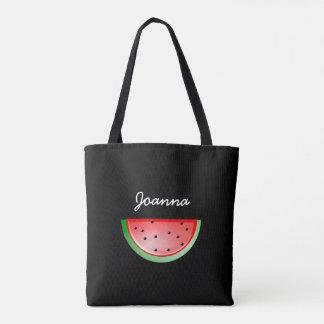 Zwarte Watermeloen die uit Gepersonaliseerde Zak Draagtas