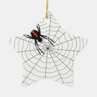 Zwarte weduwe keramisch ster ornament
