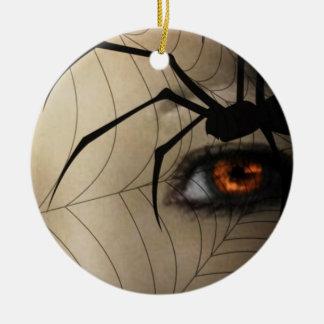 Zwarte weduwe rond keramisch ornament