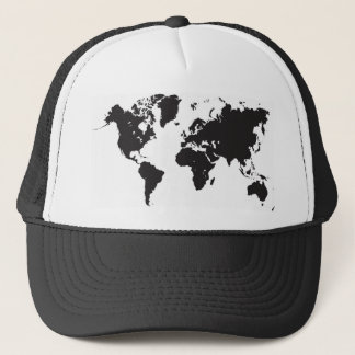 zwarte wereldkaart trucker pet