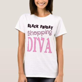 Zwarte Winkelende DIVA van de Vrijdag T Shirt