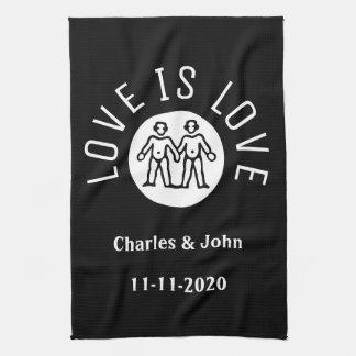 Zwarte Wit van de Trots LGBT van de Typografie van Theedoek