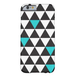 Zwarte Witte Blauwgroen Turkooise Geometrische Barely There iPhone 6 Hoesje