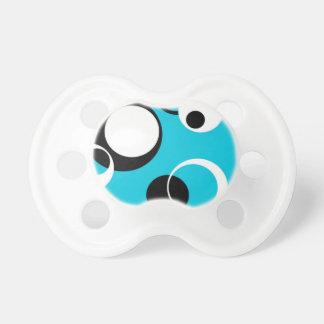 Zwarte witte en Blauwe Cirkels Fopspeentjes