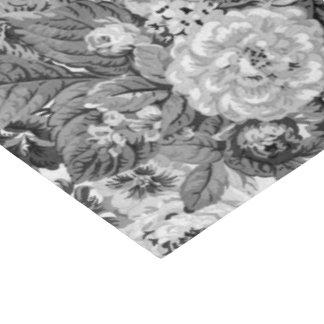 Zwarte & Witte Grijze Toon Vintage BloemenToile Tissuepapier