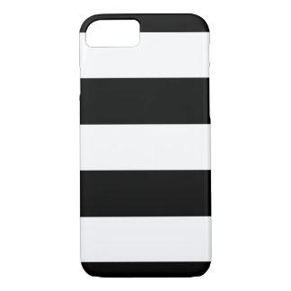 Zwarte & Witte Horizontale Strepen | Om het even iPhone 7 Hoesje