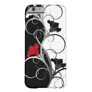 Zwarte/Witte iPhone 6 van Bloemen geval Barely There iPhone 6 Case