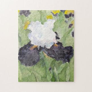 Zwarte Witte Lange Gebaarde Iris Puzzel
