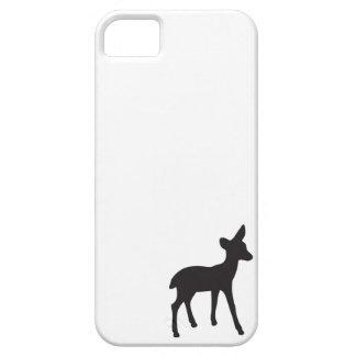 Zwarte witte leuke het silhouetkawaii van herten f barely there iPhone 5 hoesje