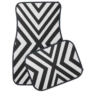 Zwarte Witte Modern van de Lijnen van de Driehoek Automat