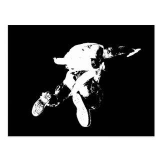Zwarte & Witte Skydiving Briefkaart