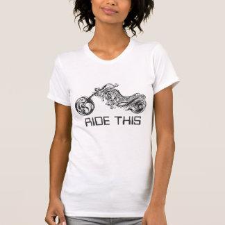 Zwarte & Witte StammenMotorfiets - Facultatief T Shirt
