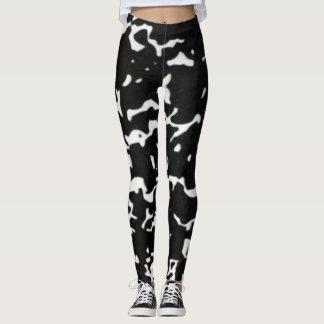 Zwarte & Witte Stedelijke Yoga Camo Leggings