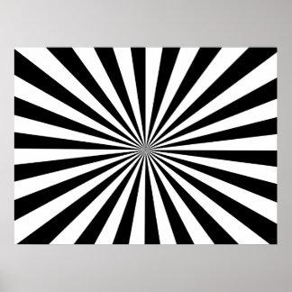 Zwarte & Witte Stralen Poster