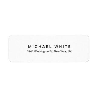 Zwarte Witte Unieke Moderne Minimalistische Vlakte Etiket