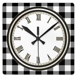 Zwarte witte van het de controlepatroon van het vierkante klok