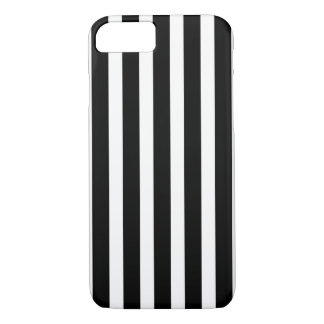 Zwarte Witte Verticale Strepen iPhone 8/7 Hoesje