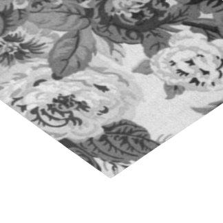 Zwarte & Witte Vintage BloemenToile No.3A Tissuepapier