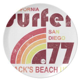 zwarten strand Californië Diner Borden