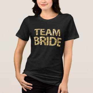 Zwarten van de Folie van de Bruid van het team de T Shirt