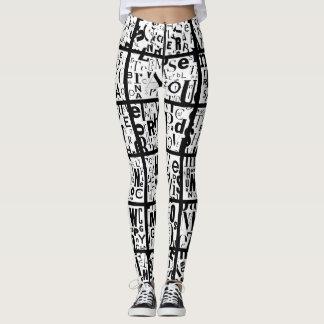 zwarten & wit leggings