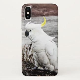Zwavel-kuif Kaketoe iPhone X Hoesje