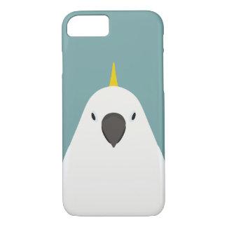 Zwavel-kuif Kaketoe - vogelillustratie iPhone 8/7 Hoesje