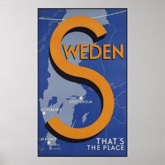 Zweden dat de Plaats is Poster