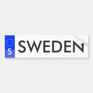Zweden - de Sticker van de Vergunning van de Bumpersticker