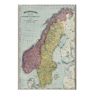 Zweden en Noorwegen 5 Poster