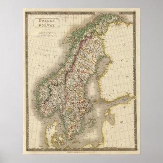 Zweden en Noorwegen 9 Poster