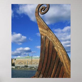 Zweden, Stockholm, haven, van Gamla Stan, Poster