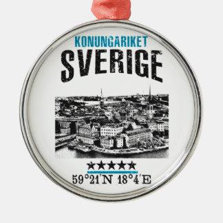 Zweden Zilverkleurig Rond Ornament