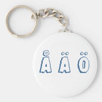Zweedse brieven (å ä ö) sleutelhanger