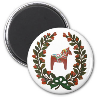 Zweedse Kerstmis van de Kroon van het Paard van Magneet