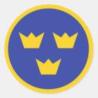 Zweedse Kronen Tre Ronde Sticker