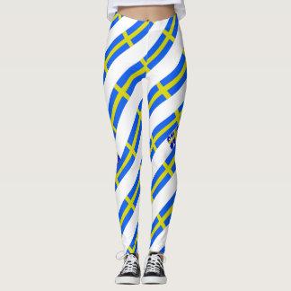Zweedse strepenvlag leggings