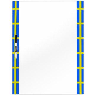 Zweedse strepenvlag whiteboards