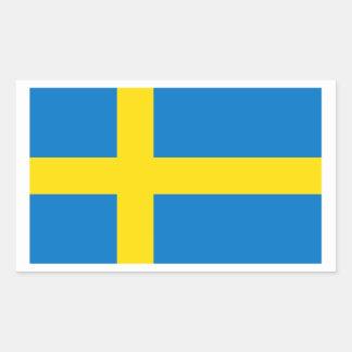 Zweedse Vlag Rechthoekige Sticker