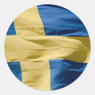 Zweedse vlag ronde sticker