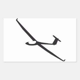 Zweefvliegtuig Rechthoekige Sticker