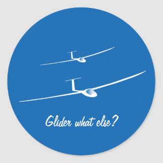 Zweefvliegtuig - wat anders? ronde sticker