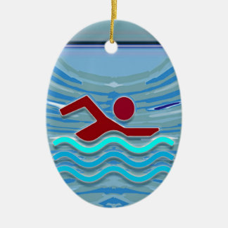 Zwem het Zwemmen van de Geschiktheid NVN254 van de Keramisch Ovaal Ornament