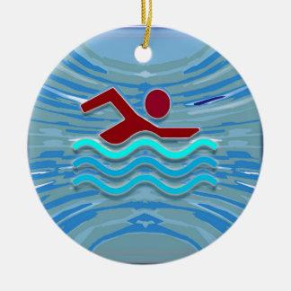 Zwem het Zwemmen van de Geschiktheid NVN254 van de Rond Keramisch Ornament