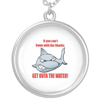 Zwem met de Haaien Zilver Vergulden Ketting